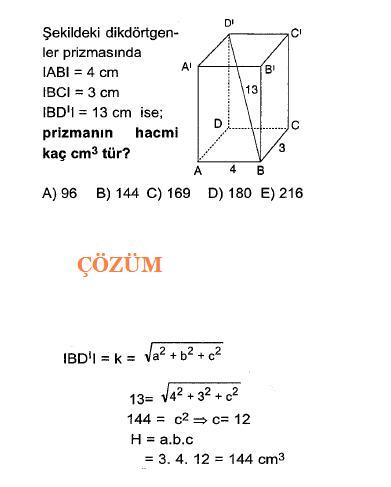 Geometri katı cisim küre ve piramid soruları ve çözümleri1