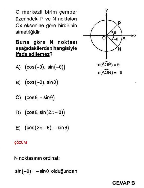 Birim çember çözümlü soru bankası