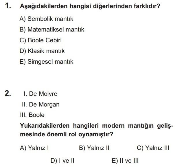 mantık test 1