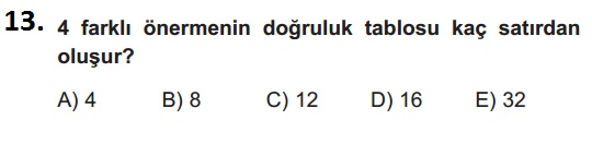 mantık test 13