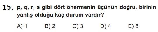 mantık test 15