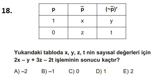 mantık test 18