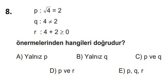 mantık test 8