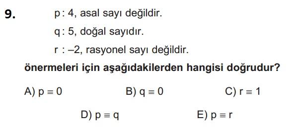 mantık test 9
